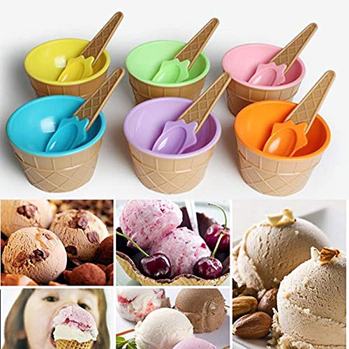 Elevin(TM)  6PC Kids Ice Cream Bowls Ice Cream Cup Couples Bowl Gifts Dessert ()