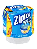 ziploc container twist n loc - Ziploc Twist 'n Loc Food Storage Container with Leak-Resistant Seal (Pack of 6)