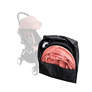 Baby Stroller Accessories for Babyzen Yoyo Travel Bag Knapsack Pram Backpack Yoya YuYu Vovo Babytime Storage Bag (Black)