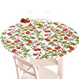 Fitted Elastic Table Cover, Apples, Round