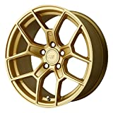 Motegi MR133 18x8.5 Gold Wheel / Rim 5x4.5 with a 35mm Offset and a 72.60 Hub Bore. Partnumber MR13388512635