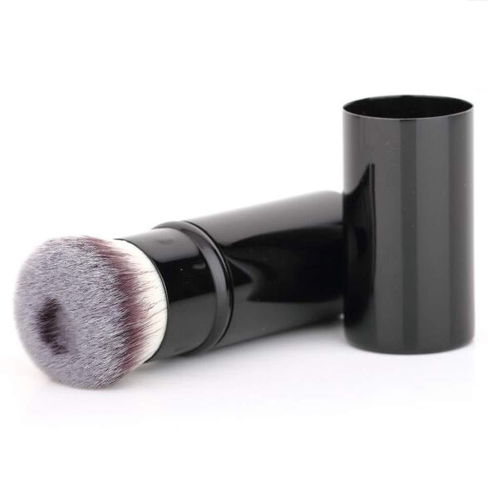 Retractable Makeup Blush Brushes Concavity Foundation Makeup Brush Flat Top Kabuki for Face