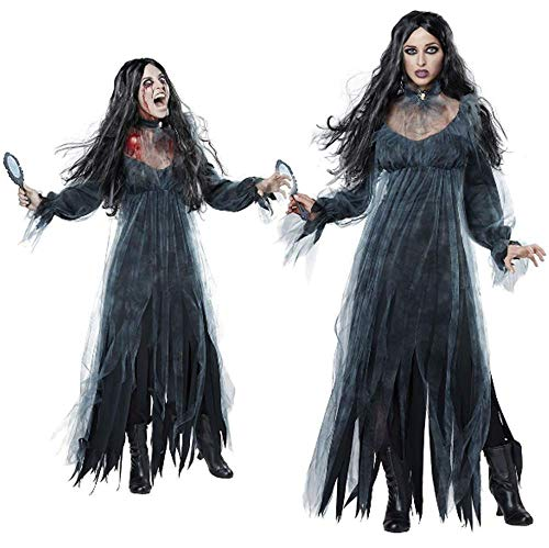 GLBUY Women's Cosplay Vampire Costume Scary Black Halloween Costumes Party Stage Costume]()