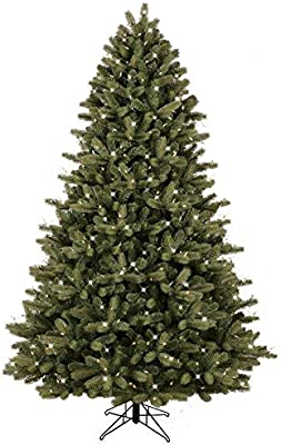 GE 7.5-ft Pre-lit Colorado Spruce Artificial Christmas Tree 600 Multi-Function Color Changing Warm White LED Lights
