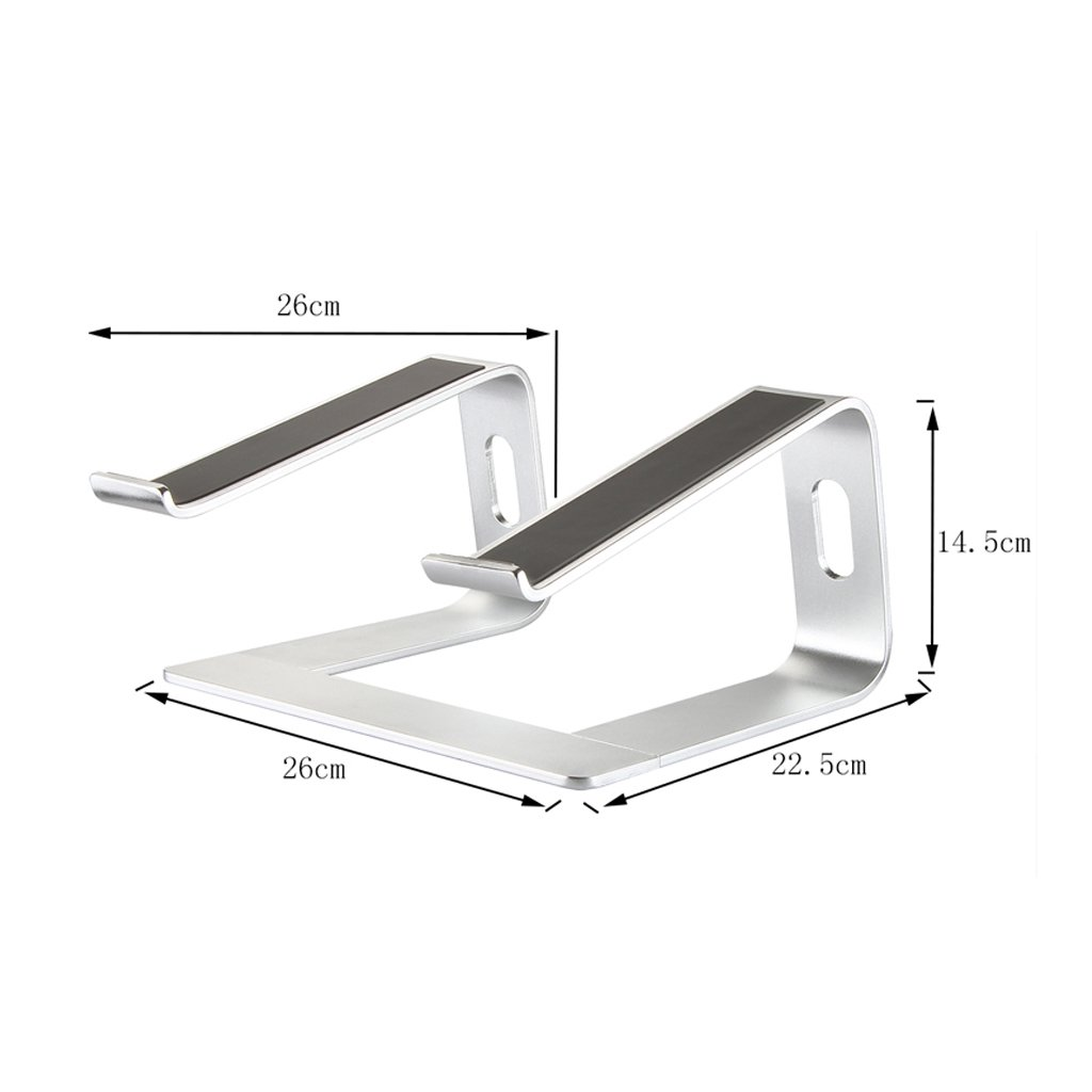 XY Soap dish Laptop Stand, Raised Rack Cooling Aluminum Alloy Computer Stand, Increased Desktop Stand Cervical, Aluminum Alloy Computer Stand, Silver Laptop Stand, 26 Cm 22.5 Cm 14.5 Cm by XY Soap dish (Image #1)