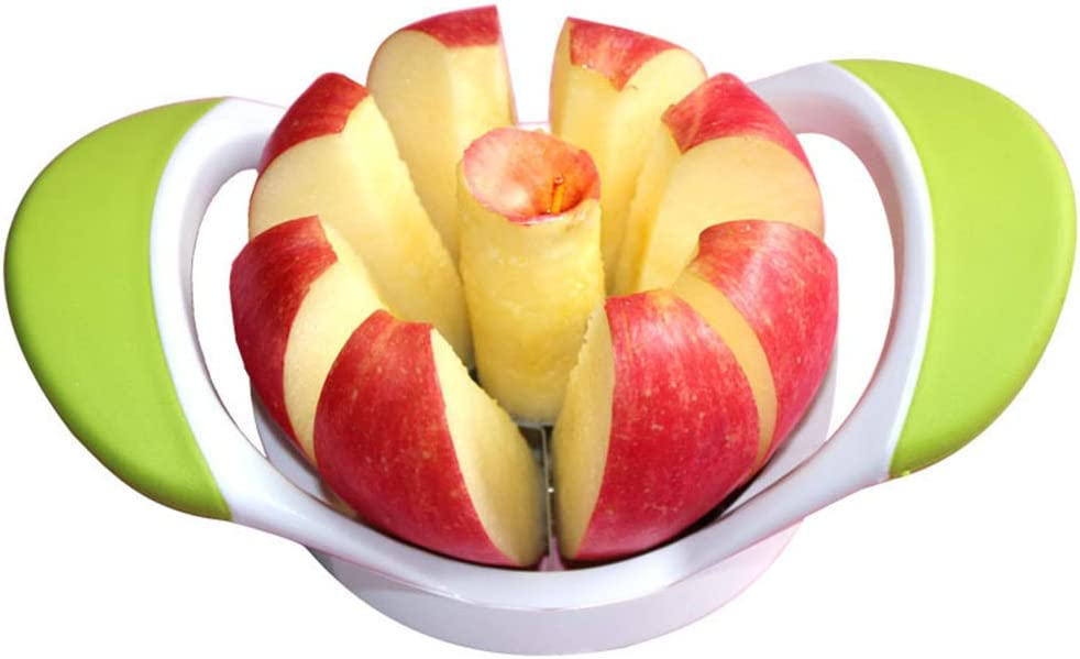 Apple Slicer Stainless Steel Fruit Corer Pear Divider 8 Sharp Apple Blades Cutter