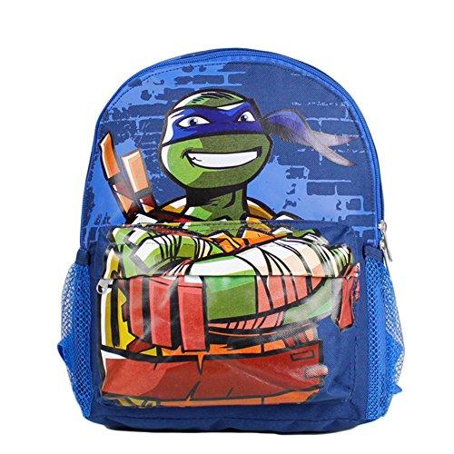 Small Size Blue Leonardo Teenage Mutant Ninja Turtles Backpack (Ninja Turtle Blue)
