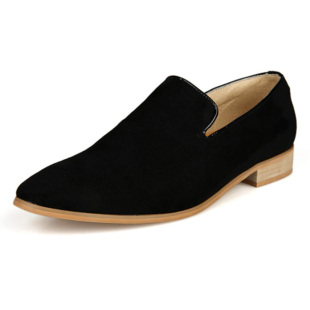 Phil Betty Mens Formal Shoes Slip-on Pure Color Comfortable Fashion Casual Flats Shoes