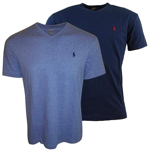 Polo Ralph Lauren Hombres Camiseta con Cuello de Pico para Hombre ...