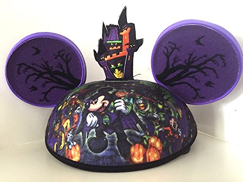[Disney Parks Exclusive Mickey Mouse and Pals Halloween Ears Hat Adult Size NEW] (Minnie Halloween Ears)