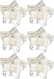 Biedermann Glass 5-Point Star Candle Holder, Clear, Set of 12