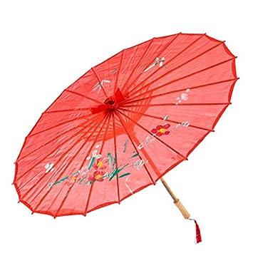 Eurowebb Paraguas en bambú – Paraguas Chino Tradicional Japonés