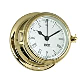 Weems and Plath Endurance II 115 Quartz Clock with Roman Numerals, Brass
