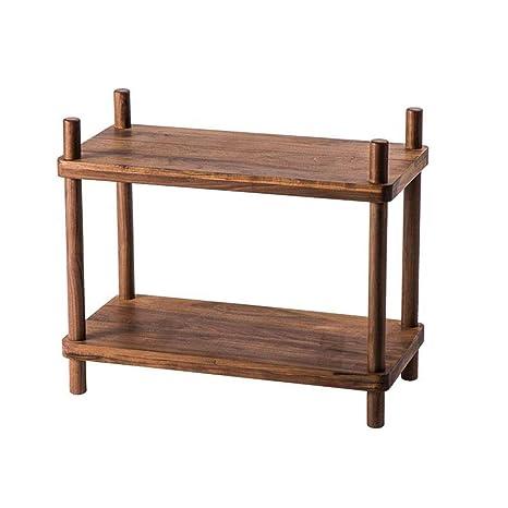 Amazon.com: Jcnfa-Shelves Estantería de madera maciza ...