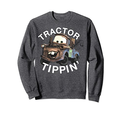 Unisex Disney Pixar Cars 3 Mater Tractor Tippin' Graphic Sweatshirt XL: Dark Heather (Disney Cars Shirts For Adults)