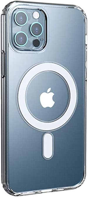 GALASHY Creations - iPhone 12 Magsafe Case - Clear Ultra Slim Magnetic Case, Built-in Magnet Circle Supports Magsafe Accessories, Compatible with 6.1 inch iPhone 12 and iPhone 12 Pro