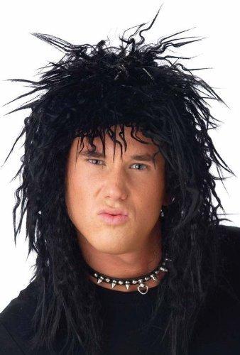 Mens Rockstar Heavy Metal Rocker Kiss 1970s 80s Black ...