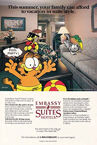 1987 Embassy Suites Hotels: Garfield, Pool Party, Embassy
