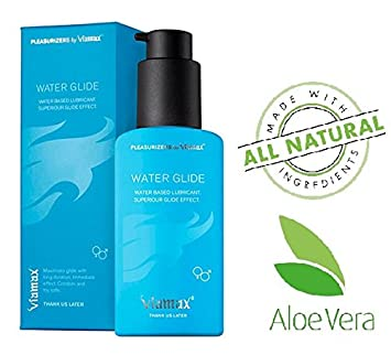 Viamax Water Glide Water Based Lube Andl Moisturizer Natural Ual Lubricant With Aloe