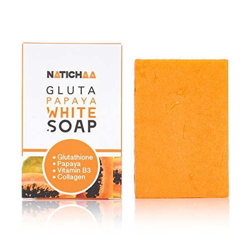 Glutathione & Papaya Whitening Soap - Natural Skin Lightener - Reduce Dark Spots, Acne Scars & Age Spots - Acquire A Soft, Silky Smooth Skin Naturally For Body & Facial Complexion - All Skin Types