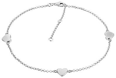 Jewelry & Watches Gedrehte Fußkette Silber 925 Länge 27 Cm X 3 Mm Singapur Fußkette Mit Einhänger