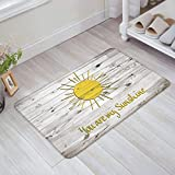 Cheap Life808 Quote You Are My Sunshine on Rustic Old Barn Wood Pattern Doormat Welcome Mat Entrance Mat Indoor Door Mats Floor Mat Rug Mat 20 by 31.5-Inch