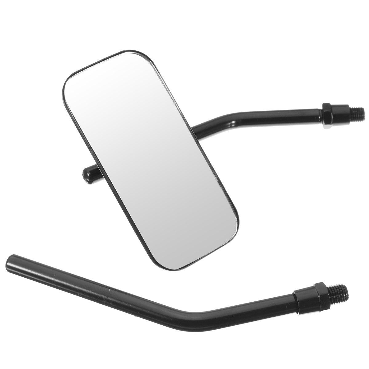 Alamor Specchi Retrovisori Per Retrovisione Quadrati Classici Moto Retr/ò Per Harley Thruxton Bonneville