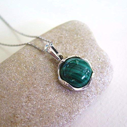 925 Sterling Silver Handmade Malachite Necklace Jewelry - Christmas Gift