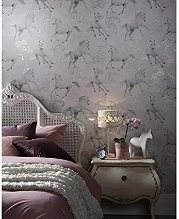 Arthouse Carmarillo Horse Pattern Silver Glitter Childrens