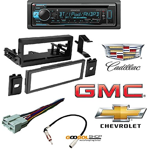Kenwood KDC-BT368U In Dash CD Receiver with Built in Bluetooth Car Radio Stereo CD Player Dash Install Mounting Trim Bezel Panel Kit Mount GMK345 (Stereo Bezel)