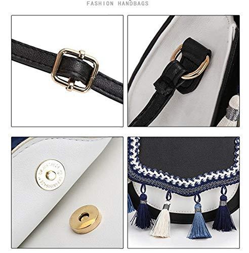 Sólido Encanto Diagonal Negro Bandolera Personalidad Hermoso Un Borla Grey Bolsos Moda Color Paquete Light Hombro XwfIxAq