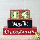 Countdown To Christmas Blocks - table top decorative blocks