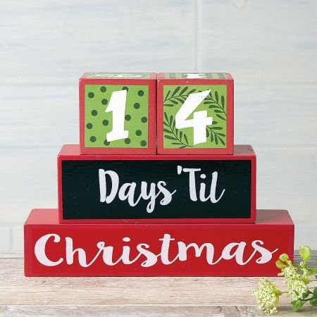 Countdown To Christmas Blocks - table top decorative blocks by Current