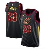 Men's Cleveland Cavaliers Lebron James Nike Swingman Jersey (Black, Large)