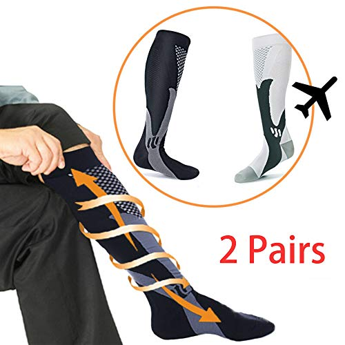 - Od-sport 2 Pair Compression Socks Women and Men, 20-30 mmHg Cross Country Ski Accessories, Feetures Plantar Fasciitis Sock for Marathon, Pregnancy, Edema, Running, Recovery (L/XL)