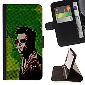 DEVIL CASE - FOR HTC DESIRE 816 - Fight Brad - Style PU Leather Case Wallet Flip Stand Flap Closure Cover