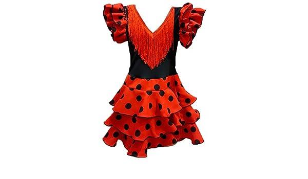 DISBACANAL Vestido de andaluza para niña - Único, 12 Meses: Amazon.es: Juguetes y juegos