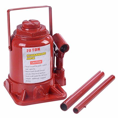 20 TON Hydraulic Bottle Jack Low Profile Automotive Shop Axle Jack Hoist Lift