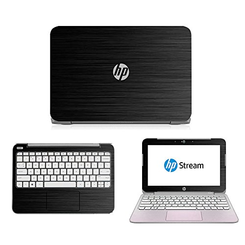 Black Brushed Aluminum skin decal wrap skin case for HP Stream 11 11.6