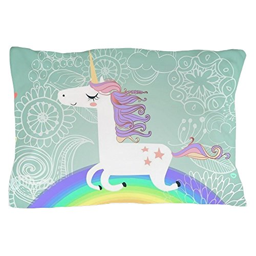 CafePress - Unicorn - Standard Size Pillow Case, 20''x30'' Pillow Cover, Unique Pillow Slip by CafePress