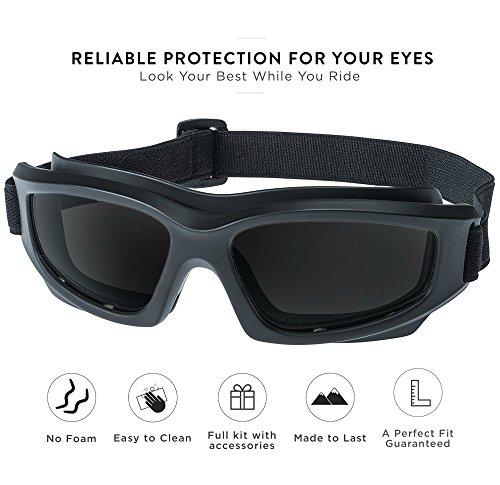 2dc2ea62ca Amazon.com  Tinted Motorcycle Riding Goggles  Heavy-Duty Riding Goggles
