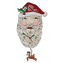 Allen Designs Jolly Santa Whimsical Santa Claus Pendulum Wall Clock