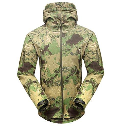 LANBAOSI Men's Waterproof Military Hiking Jacket Camouflage1 Size US XL
