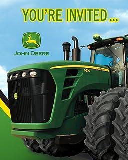 Amazon Com John Deere Invitations 8 Toys Games