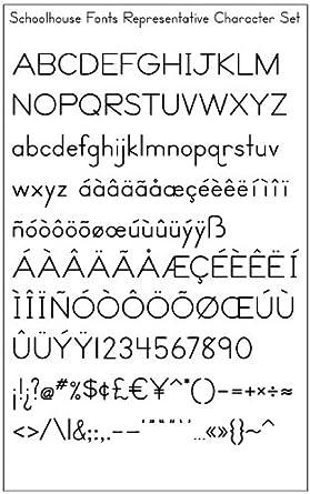 Amazon.com: Schoolhouse Fonts SmartFonts Set Z version 6 (Zaner ...