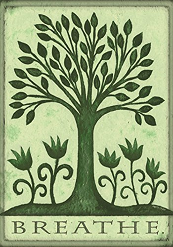 (Toland Home Garden Breathe 28 x 40 Inch Decorative Conservation Nature Earth Tree Flower House)