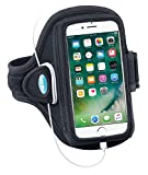 Armband Compatible With iPhone 8 7 6s 6 (NOT PLUS) - For Running & Working Out - Sweat-Resistant [Black]