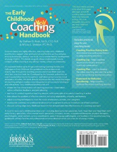 The Early Childhood Coaching Handbook Amazones Dathan Rush M