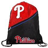 MLB Philadelphia Phillieshigh End Diagonal Zipper Drawstring Backpack, Philadelphia Phillies, One Size
