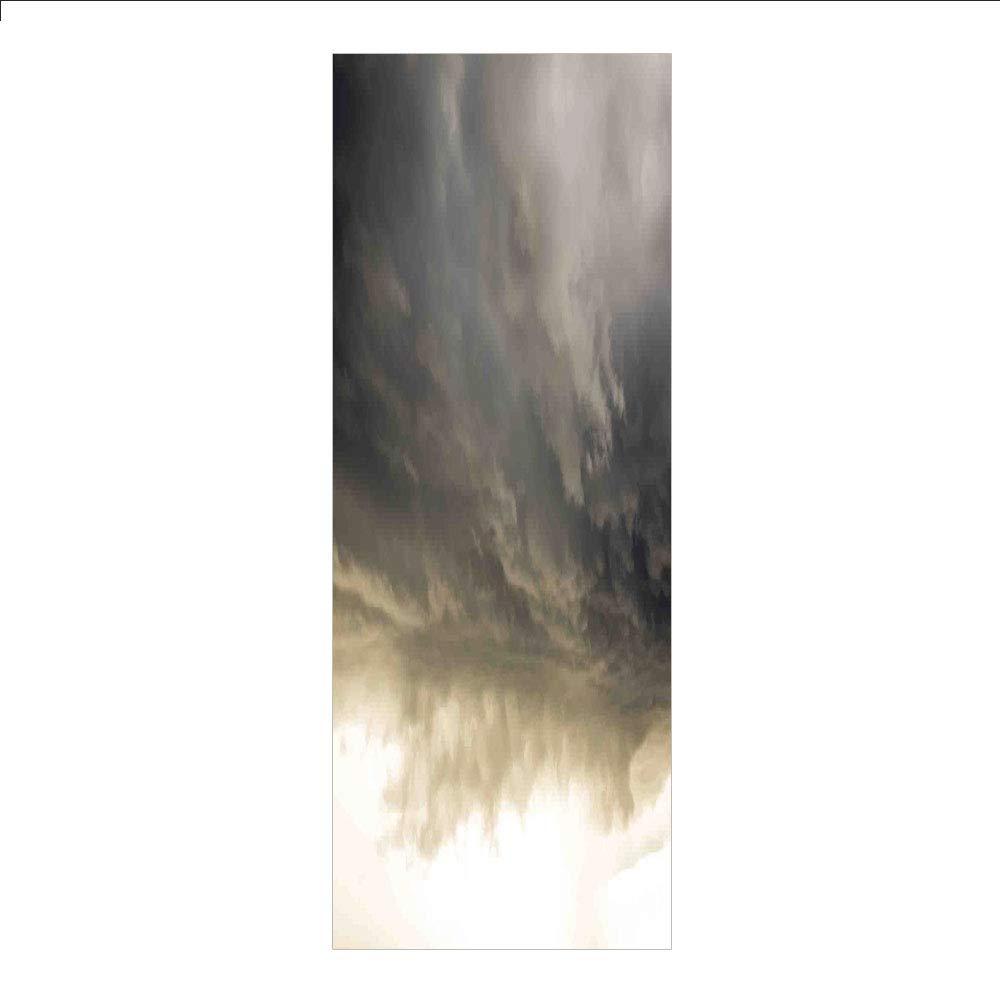 装飾用プライバシーウィンドウフィルム/静かなリラックステーマのポートピア木製素朴な夜明けの夕日アート/接着剤不要のセルフ静電気接着 自宅/ベッドルーム/バスルーム/キッチン/オフィス装飾用 マルチカラー W23.6xL78.7 Inches HL_BLTZ_01862_K60xG200 B07MXCK73Q Z02 W23.6xL78.7 Inches